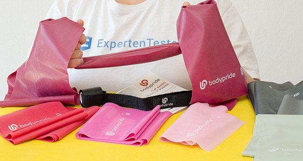 BODYPRIDE Premium Fitness Flat Bands im Test - 4 Variable Stärken für jedes Niveau, vom Anfänger bis Fortgeschritten