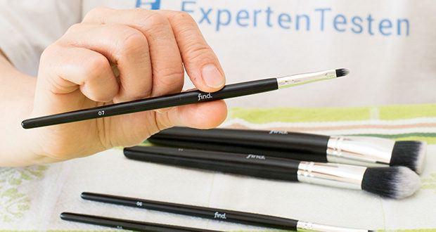 FIND Starterset 5 Pinsel im Test - der Lippenpinsel (Nr. 07) erleichtert das Auftragen von Lippenstift und Lipgloss. Die zulaufende Spitze erlaubt das präzise und zielsichere Auftragen von Lippen-Make-up