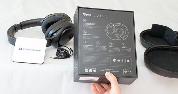 Mu6 Bluetooth Kopfhörer Space2 im Test - aktivieren Sie den Sprachassistenten Siri oder Alexa mit zwei Drücken der ANC-Taste und verwalten Sie Ihre Musik und Ihr Telefon, ohne Ihre Hände zu benutzen