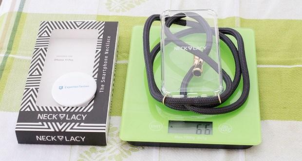 NECKLACY Handyhülle Stormy Grey für iPhone 11 Pro im Test - das Gewicht beträgt 66 g