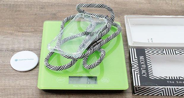NECKLACY Handyhülle DOMINO SWIRL für iPhone 6/6S im Test - das Gewicht beträgt 61 g