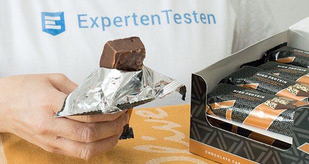 Amfit Nutrition Protein-Riegel mit Schokoladen-Fudge im Test - köstlicher Geschmack