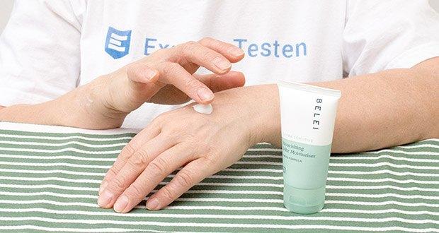 Belei Ultra sensible 24-h-Creme im Test - Täglich morgens nach der Reinigung der Haut verwenden, nachdem Sie Ihr Lieblingsserum aufgetragen haben
