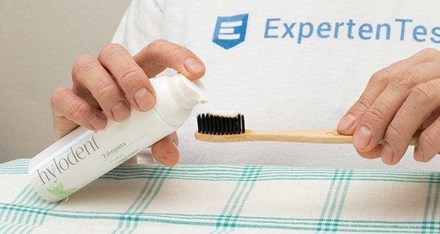 hylodent Bio Zahnpasta im Test - kommt ganz ohne schäumende Tenside & Titanoxide aus