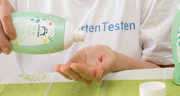Mama Bear Baby Öl im Test - 0 % Parabene, dermatologisch getestet