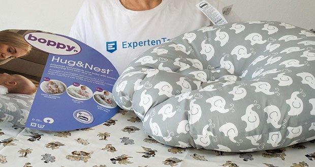 Kuschelkissen Chicco Boppy Hug und Nest im Test - mit runden stützenden Formen und weichen Materialien