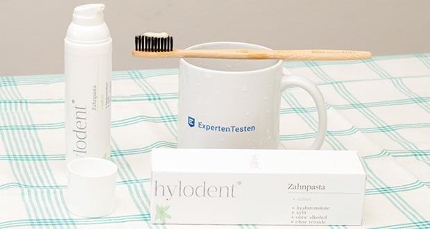 hylodent Bio Zahnpasta im Test - stärkt zusätzlich Ihr Zahnfleisch