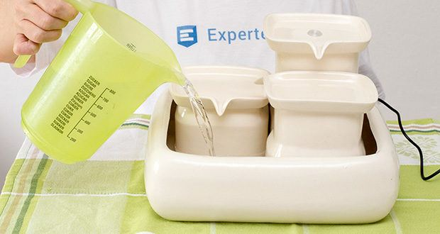 Miaustore Keramik Trinkbrunnen für Katzen im Test - 3.4 Liter Fassungsvermögen