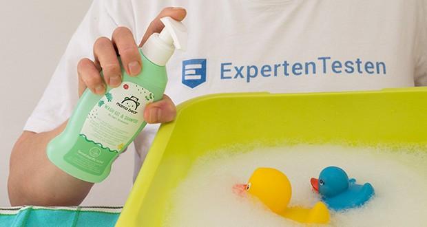 Mama Bear Baby-Waschgel & Shampoo im Test - reinigt sanft die Haut Ihres Babys - vom Kopf bis zu den kleinen Zehen