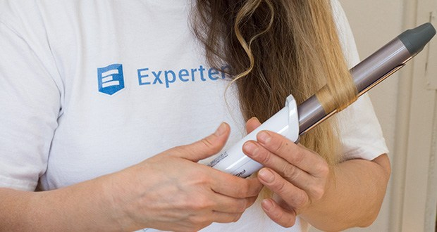 Rowenta CF3460 Lockenstab Premium Care Precious Curl im Test - lange Frisierzange, um das Haar besser einzuspannen