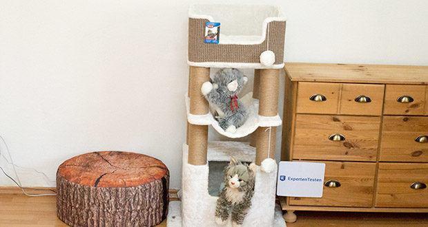 Trixie Kratzbaum XXL Lucano 44669 im Test - auf insgesamt drei Ebenen bietet der Kratzbaum Lucano von Trixie ausreichend Platzt auch für mehrere Katzen
