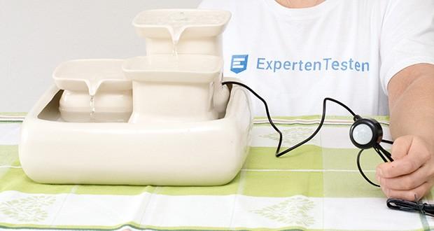 Miaustore Keramik Trinkbrunnen für Katzen im Test - sehr leise