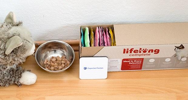 Lifelong Katzenfutter mit Fleischauswahl im Test - von Tierernährungswissenschaftlern entwickelt und von Tierärzten überprüft