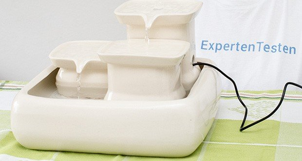 Miaustore Keramik Trinkbrunnen für Katzen im Test - 8 verschiedene Trinkbereiche