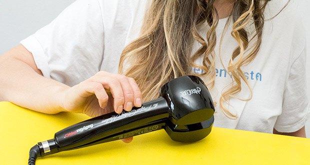 BaByliss Pro BAB2655E The Perfect Curling Machine MiraCurl im Test - die Keramikverkleidung sorgt dabei für den schonenden Rundumschutz des Haares