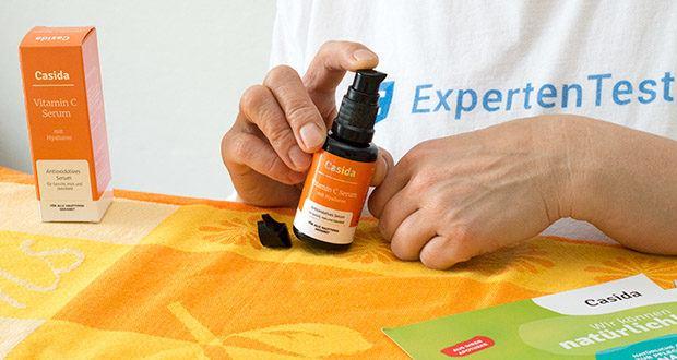 Casida Vitamin C Serum + Hyaluron im Test - für ein spürbar frisches und jünger anmutendes Hautbild