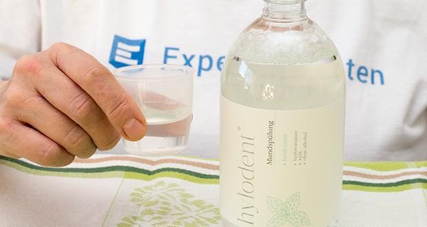 hylodent Bio-Mundspülung Mundwasser im Test - kommt dorthin, wo die Zahnbürste nicht hinkommt