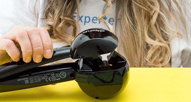 BaByliss Pro BAB2655E The Perfect Curling Machine MiraCurl im Test - Anwendung in 3 Schritten: einlegen, aufrollen, verlockendes Ergebnis