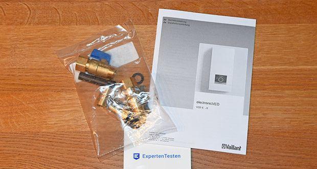 Vaillant Elektro-Durchlauferhitzer VED E 21/7 im Test - geeignet für Kunststoffrohre nach DIN 1988 und DIN 16892/16893