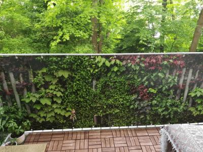 Bedruckter Sichtschutz für Balkon und Garten nach Maß