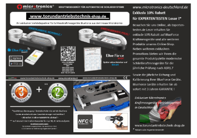 Tor und Antriebstechnik Shop - Schließkraftmessgeräte online kaufen