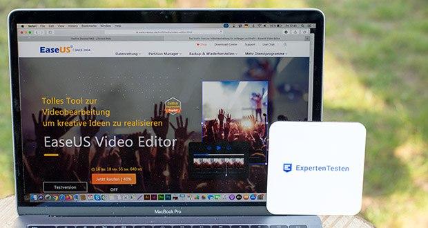 EaseUS Video Editor Pro im Test - Sie können Videoclips trimmen, schneiden, zusammenfügen, einfügen, kürzen und drehen, stilvolle Videoeffekte benutzen, die Geschwindigkeit oder die Lautstärke anpassen und mehr