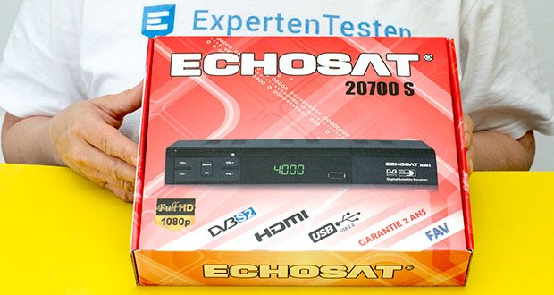 Echosat 20700 S Digitaler HD Satelliten Receiver im Test - die Hauptmerkmale: HD, HDTV, DVB-S/ DVB-S2, HDMI, AV, 2x USB 2. 0, Full HD 1080p, digitaler Audio Ausgang