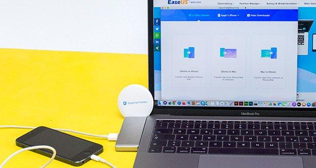 EaseUS MobiMover Pro im Test - kann Backups ihrer iPhone /iPad Daten erstellen, Daten zwischen iOS Geräten oder iOS Geräten und Computern übertragen