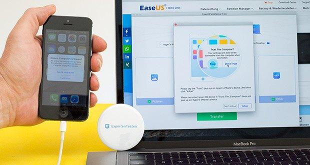 EaseUS MobiMover Pro im Test - 1-Klick Transfer und iPhone, iPad, iPod und iCloud Daten verwalten
