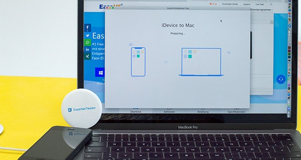 EaseUS MobiMover Pro im Test - Transfer von iPhone auf Computer: Übertragen Sie iPhone/iPad Daten auf Computer schnell und einfach