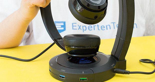 EasyAcc Kopfhörerhalter Headset Halterung im Test - Wireless Charger Output: 5 W, 7.5 W, 10 W