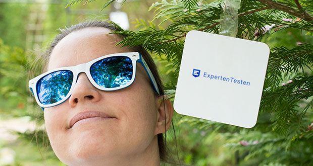 Klickparts Sonnenbrille im Test - abhält alle UV-Strahlen im Bereich von 280 bis 400 Nanometern Wellenlänge