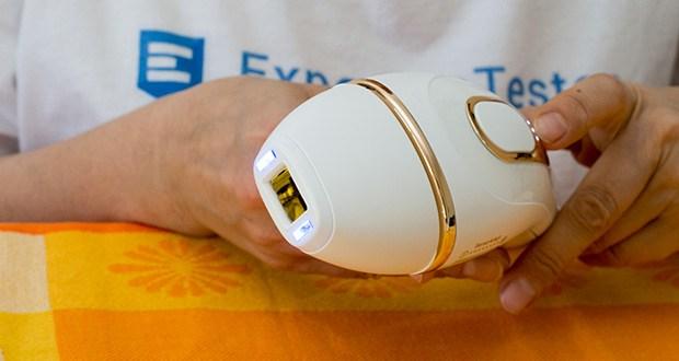 Braun Silk-Expert Pro 5 IPL-Haarentfernungsgerät im Test - der Hautton variiert in den unterschiedlichen Bereichen Ihres Körpers. Deshalb liest der SensoAdapt-Sensor (mit UV-Schutz) kontinuierlich den Hautton und passt die Intensität der Lichtimpulse automatisch an