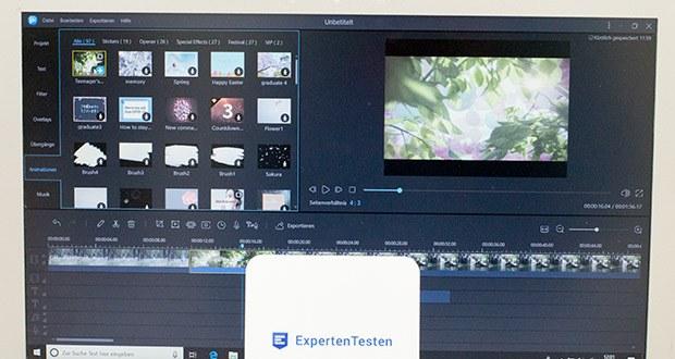 EaseUS Video Editor Pro im Test - zahlreiche Videofilter und Übergänge sind für Sie verfügbar