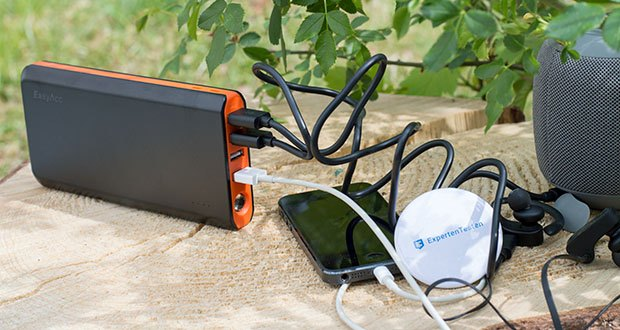 EasyAcc 20000mAh Powerbank im Test - kompaktes Ladegerät auf Reisen