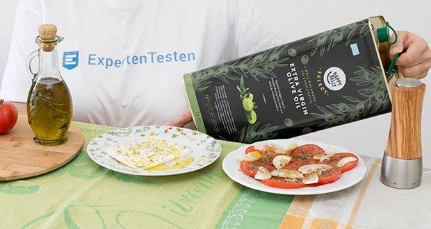 Happy Belly Select Natives Olivenöl extra im Test - innerhalb von Stunden extrahiert