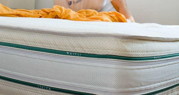 KIPLI Naturlatex-Matratze im Test - das Futter wurde für den höchsten Komfort mit zwei beidseitigen unterschiedlichen Polstern ausgestattet: die Seite aus Baumwolle für den Sommer und Die Seite aus Wolle für den Winter