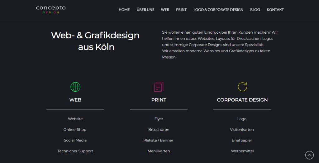 concepto DESIGN - Web- und Grafikdesign Agentur aus Köln