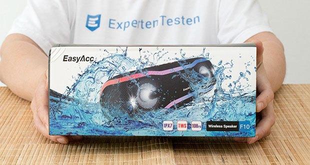 EasyAcc F10 Bluetooth Lautsprecher im Test - duale 10W starke Treiber mit Surround-Klang und verstärkten Bass