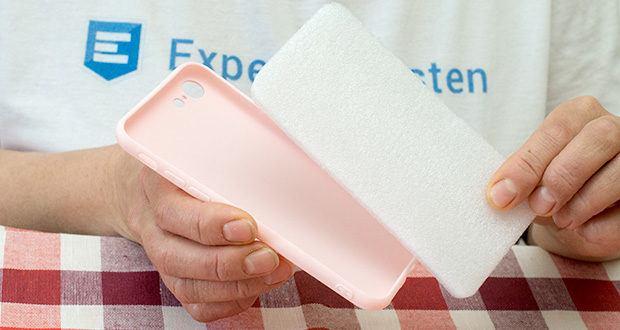 EasyAcc Hülle für iPhone 7/8/SE Hellrosa im Test - robustes TPU Material