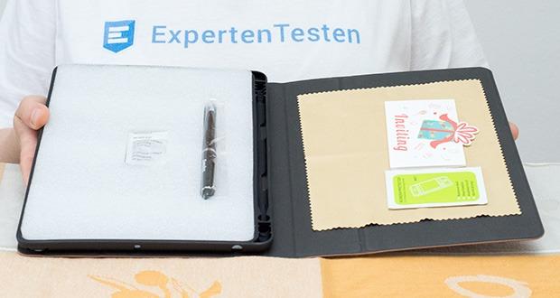 CACOE Schutzhülle für iPad 7 10.2 im Test - weiches Mikrofaser-Futter mit PU-Leder-Optik verhindert Kratzer auf Ihrem Tablet