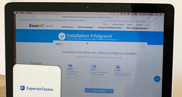 EaseUS Partition MasterPro im Test - organisieren Ihrer Festplatte und Ihres freien Festplattenspeichers, um die Systemleistung zu verbessern