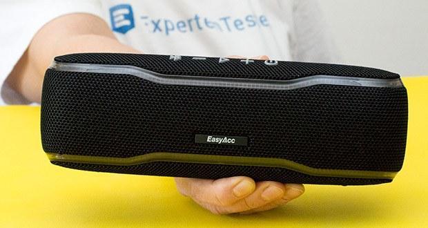 EasyAcc F10 Bluetooth Lautsprecher im Test - Sie können den Lautsprecher unterschiedliche Töne durch Berührung an verschiedenen Stellen erzeugen