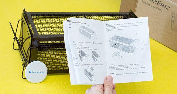 Ratzfatz Quickcatch MTBSL20 Mausefalle im Test - Köderstation geeignet für die Nutzung von Langzeitködern, Portionsköder, Naturködern, Gemüse & Lockstoffen