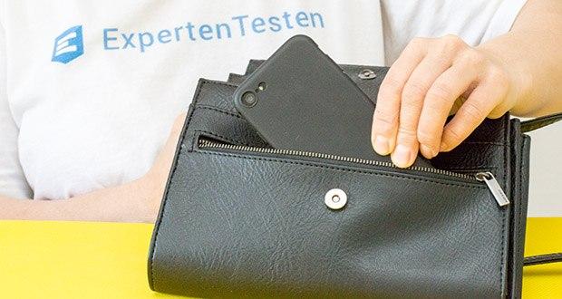 EasyAcc Hülle für iPhone 7/8/SE Schwarz im Test - durch die schmutzabweisende, schwarze TPU Hülle gibt es keine lästigen Fingerabdrücke und Ansammlungen von Staub oder Öl