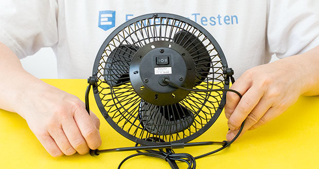 EasyAcc USB-Tischventilator 9 Zoll im Test - 2 Geschwindigkeitseinstellungen und 360-Grad-Drehung
