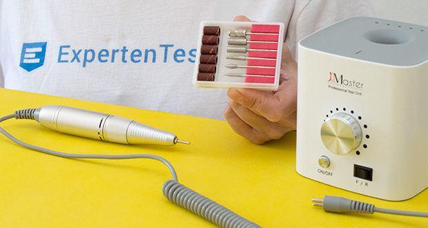 Jcmaster Premium Set Nagelfräser im Test - das Gerät beinhaltet 6 Amateur-Test Bits für den Fräser