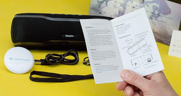 EasyAcc F10 Bluetooth Lautsprecher im Test - die letzten 8 gekoppelten Bluetoothgeräte werden automatisch vom Lautsprecher gepeichert
