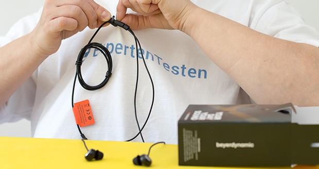"""Beyerdynamic SOUL BYRD Kabelgebundener In-Ear im Test - die äußerst flexiblen, formschönen Kabel verfügen über eine weiche Oberfläche und bleiben frei von """"Zickzack""""-Verformungen"""