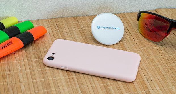 EasyAcc Hülle für iPhone 7/8/SE Hellrosa im Test - perfekter Sitz für das iPhone 7 / 8 / iPhone SE 2021